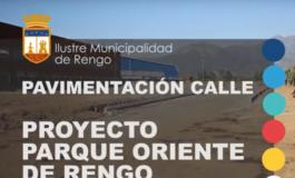 PAVIMENTACIÓN CALLE PROYECTO PARQUE ORIENTE DE RENGO (VIDEO)