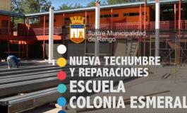 NUEVA TECHUMBRE Y REPARACION ESCUELA COLONIA ESMERALDA (VIDEO)