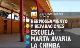 HERMOSEAMIENTO Y REPARACIONES ESCUELA MARTA AVARIA LA CHIMBA (VIDEO)