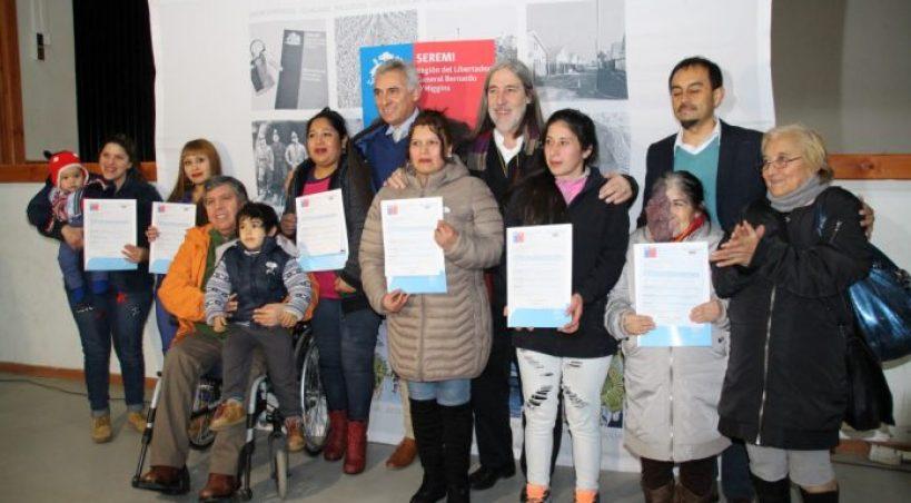 119 SUBSIDIOS FUERON ENTREGADOS EN LA COMUNA DE RENGO