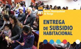 40 FAMILIAS DE RENGO RECIBEN SUBSIDIO PARA GRUPOS EMERGENTES Y CLASE MEDIA (VER VIDEO)