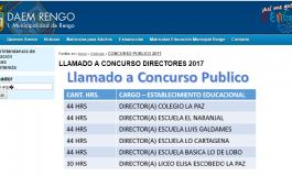 CONCURSO PUBLICO I.M.RENGO: DAEM LLAMADO A POSTULACION PARA DIRECTORES DE COLEGIOS