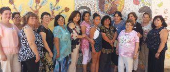 Inauguración Mural de mosaico elaborado por mujeres participantes de programa Prodemu.