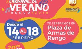 CONOCE A LOS ARTISTAS QUE NOS VISITARAN EN EL CARNAVAL DE VERANO RENGO 2018