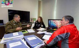 """Alcalde Soto se reúne con Mayor de Carabineros de Rengo:  """"TENEMOS QUE SER CAPACES DE TRABAJAR EN TODOS LOS FRENTES"""""""