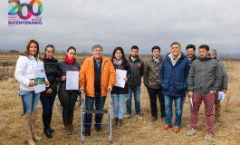 ALCALDE Y DIRIGENTES DE ROSARIO PARTICIPAN EN INICIO DE FAENAS DE CONJUNTO HABITACIONAL DON VICENTE