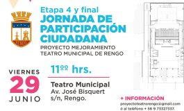 """ETAPA 4 Y FINAL PARTICIPACIÓN CIUDADANA """"PROYECTO MEJORAMIENTO TEATRO MUNICIPAL DE RENGO"""