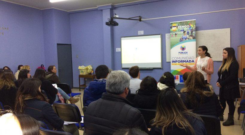 OFICINA DE SEGURIDAD PÚBLICA COMIENZA TRABAJO CON ESTABLECIMIENTOS EDUCACIONALES DE LA COMUNA