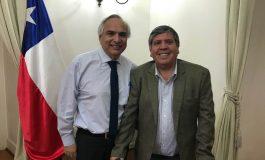 ALCALDE DE RENGO CARLOS SOTO SE REÚNE CON MINISTRO DEL INTERIOR ANDRÉS CHADWICK