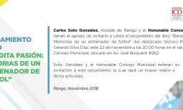 "LANZAMIENTO LIBRO ""BENDITA PASIÓN: MEMORIAS DE UN ENTRENADOR DE FÚTBOL"" DE GERARDO SILVA"