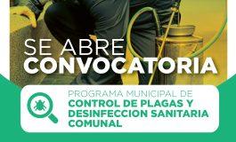PROGRAMA DE CONTROL DE PLAGAS Y DESINFECCION A MIL VIVIENDAS DE LA COMUNA