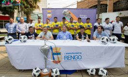 DEPORTES RENGO PRESENTA NUEVOS REFUERZOS Y CUERPO TECNICO JUNTO AL ALCALDE CARLOS SOTO