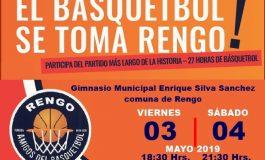 3 y 4 de Mayo: 27 HORAS DE BASQUETBOL FUERON ANUNCIADAS EN INAUGURACION DE ACLE RENGO