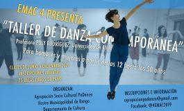 """DANZA EN RENGO: TALLER DE DANZA CONTEMPORÁNEA """"EMAC 4"""" CON PROFESORA DE LA UNIVERSIDAD DE CHILE."""