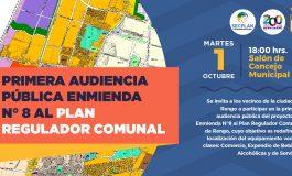 PRIMERA AUDIENCIA PÚBLICA ENMIENDA N° 8 AL PLAN REGULADOR COMUNAL