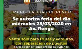 COMUNICADO N°6FERIA LIBRE DE AVENIDA RENGO FUNCIONARA CON RESGUARDOS