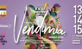 LOS DIAS 13, 14 Y 15 DE MARZO RENGO CELEBRA SU VENDIMIA 2020