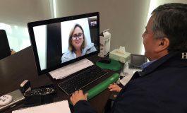 ALCALDE REALIZA PRIMERA REUNION OFICIAL POR VIDEOCONFERENCIA CON INTENDENTA REGIONAL