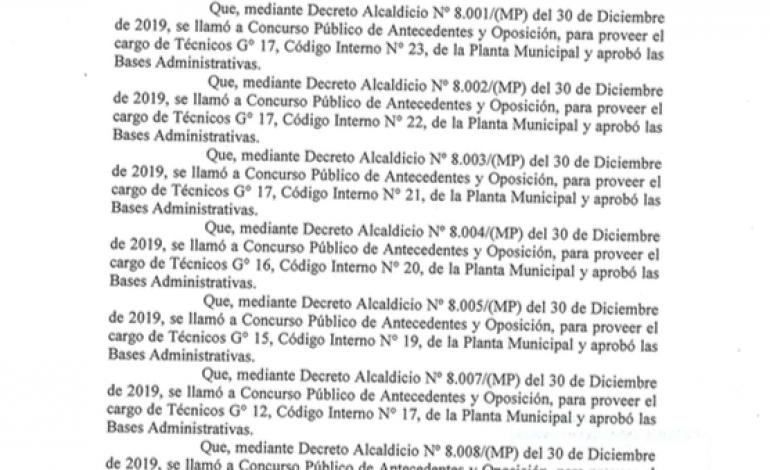 Suspensión de Proceso Administrativo de Concursos Públicos