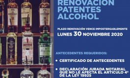 RENOVACION DE PATENTES DE ALCOHOLES VENCE EL 30 DE NOVIEMBRE