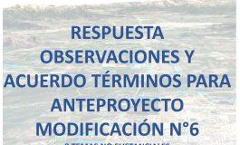 INFORME DE OBSERVACIONES IMAGEN OBJETIVO Y ACUERDO DE CONCEJO PARA ANTEPROYECTO MODIFICACION N°6 AL PLAN REGULADOR