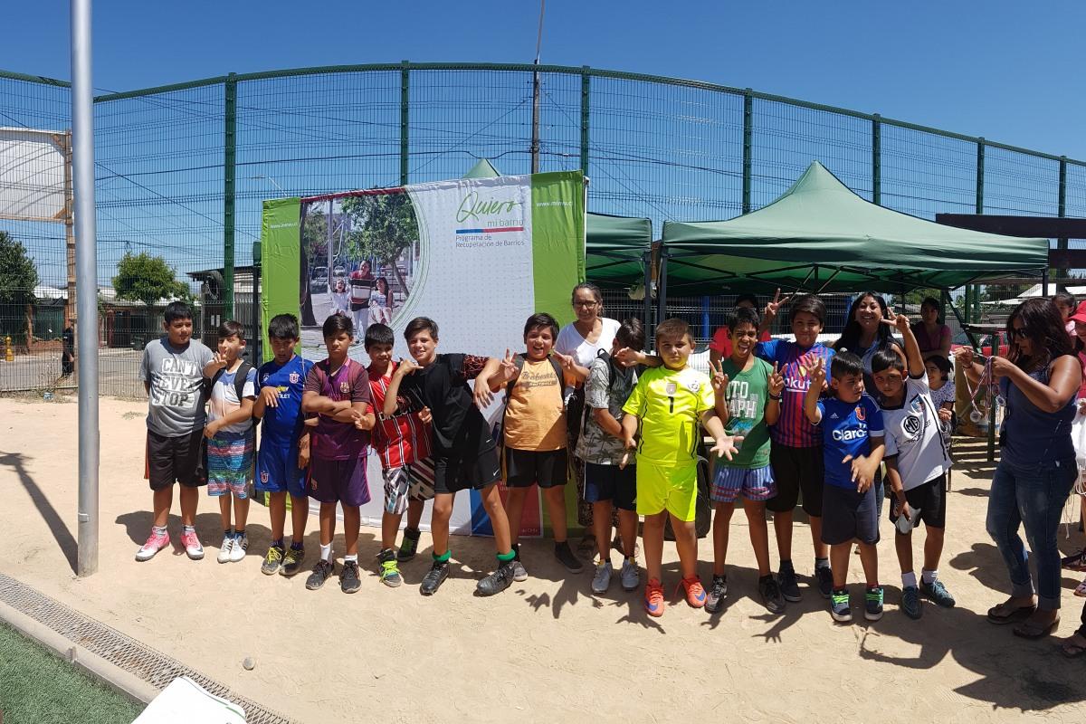 Campeonato Interbarrial de Futbol en Multicancha Villa Jardín de Rengo