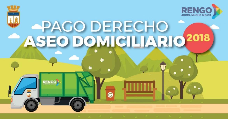 INFORMAMOS A LA COMUNIDAD: SE ENCUENTRA DISPONIBLE CUOTA DEL MES DE NOVIEMBRE DE DERECHO DE ASEO DOMICILIARIO