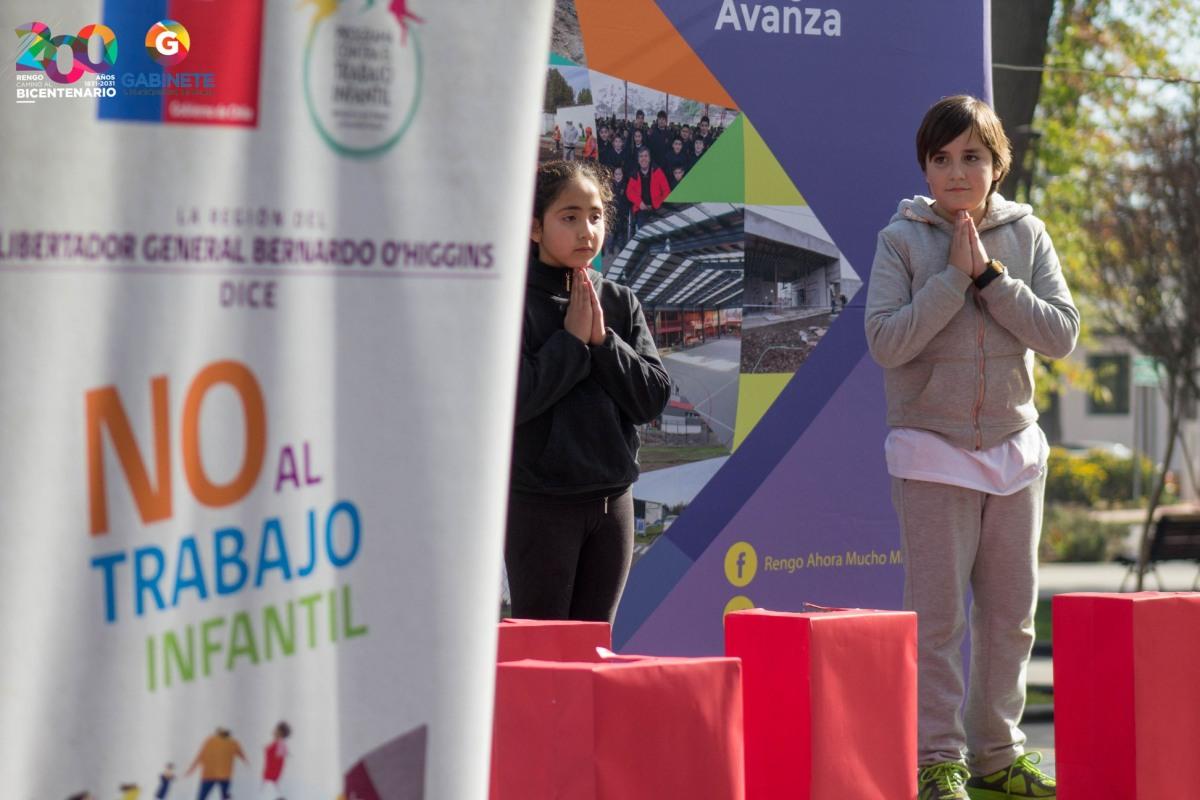 FERIA RED SENAME SE REALIZO HOY CONTRA EL TRABAJO INFANTIL