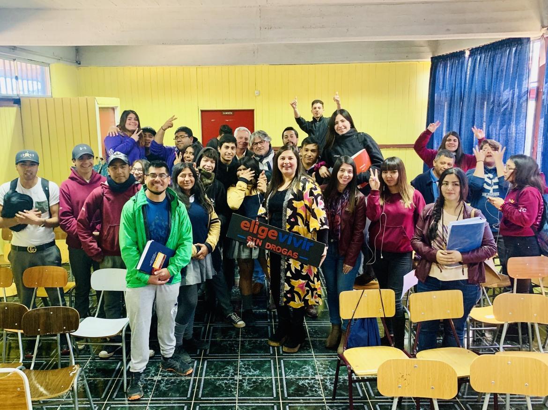 SENDA RENGO Y DEPARTAMENTO DE TRANSITO REALIZAN TALLERES DE EDUCACION VIAL A 150 ESTUDIANTES DE LA COMUNA