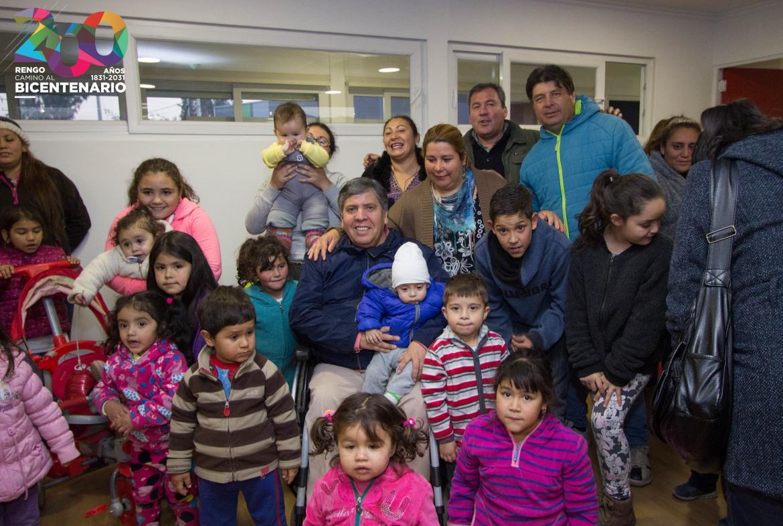 ALCALDE DE RENGO Y FUNCIONARIOS DE JUNJI REALIZAN VISITA A OBRAS DE NUEVO JARDÍN INFANTIL DE VILLA SAN FRANCISCO