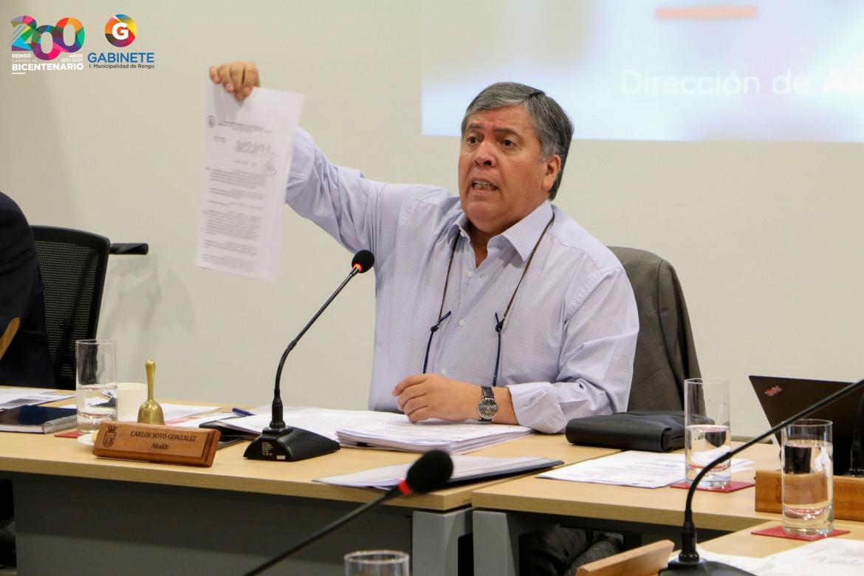 EN SESIÓN DE CONCEJO MUNICIPAL, SE ENTREGA BALANCE PRESUPUESTARIO MUNICIPAL QUE NUEVAMENTE ENTREGA NÚMEROS AZULES