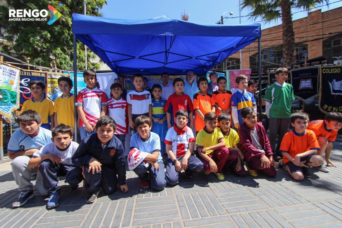 Campeonato de Futbol Fuerza Comunal:A PARTIR DE HOY 12 COLEGIOS DE LA COMUNA ASPIRAN AL CETRO SUB10 DE RENGO