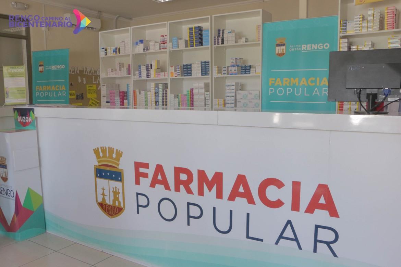 COMUNICADO N°5  DEPARTAMENTO DE SALUD DE RENGO:  HORARIOS DE ATENCION DE FARMACIA POPULAR